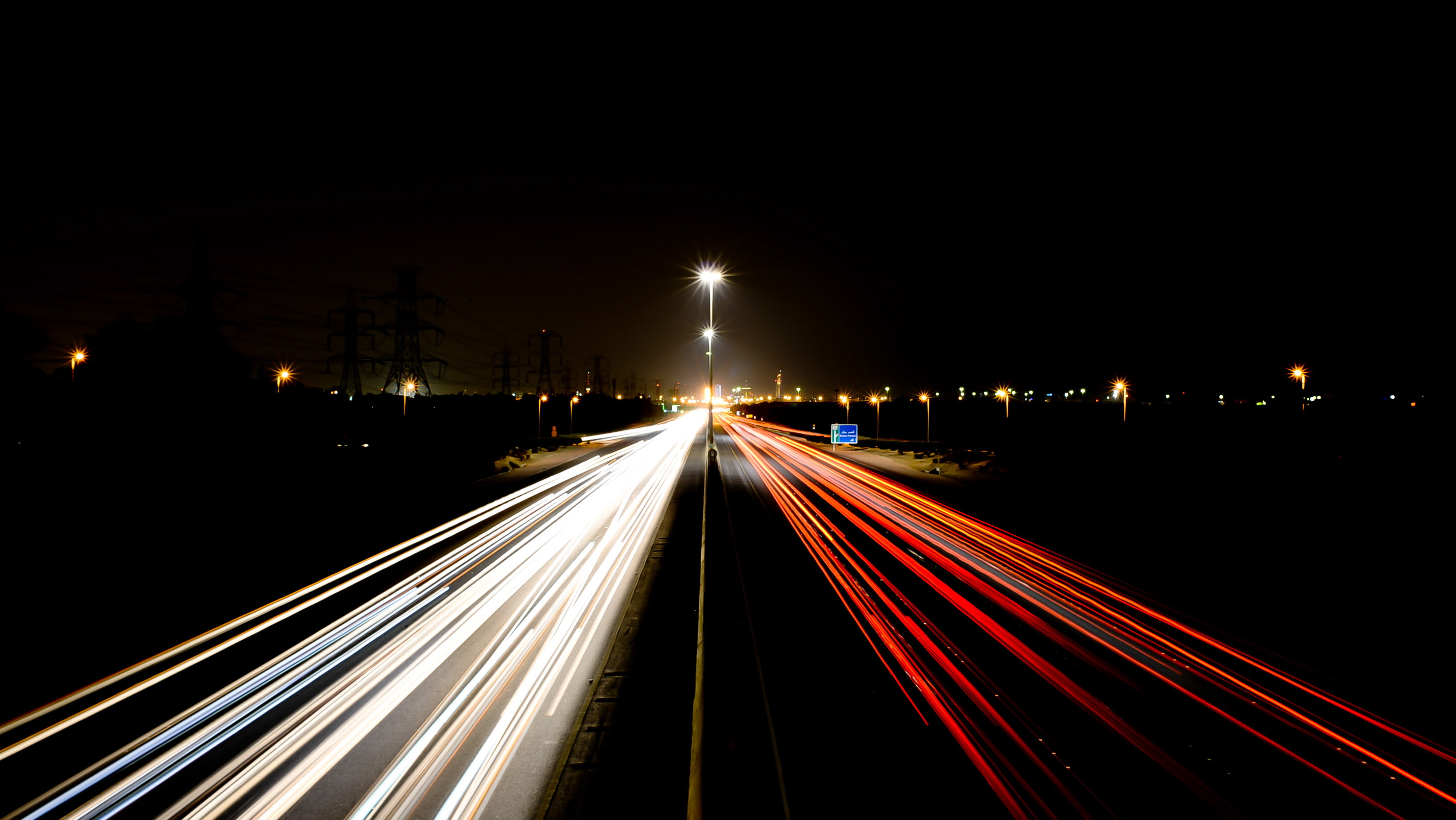 traffic at night by - photo #37