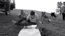 Mongolia-lake-khoton-camp-yoga-pose-astangasana-thegeneralist